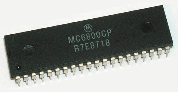 the 6800 microprocessor Pin diagram and pin description of 8085  clk (output)-clock output is used as the system clock for peripheral and devices interfaced with the microprocessor.