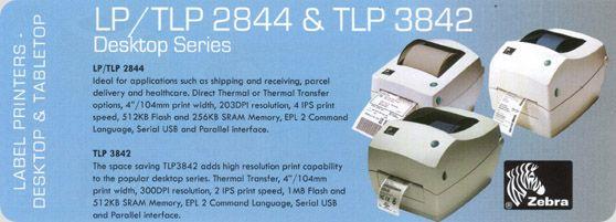 Freeware download Barcode printer Zebra software for TLP2844, TLP2824